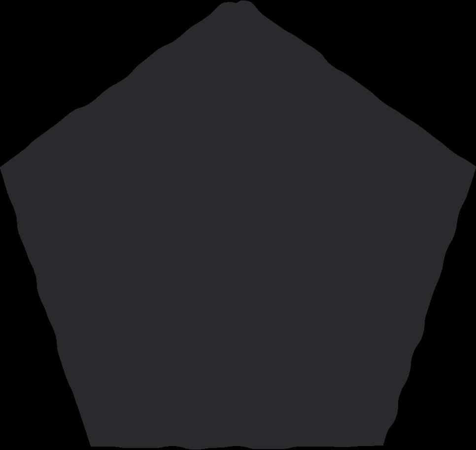 pentagon black Clipart illustration in PNG, SVG