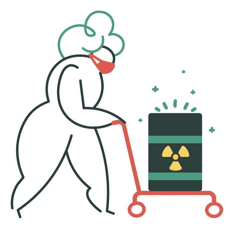 Radioactive waste Clipart illustration in PNG, SVG