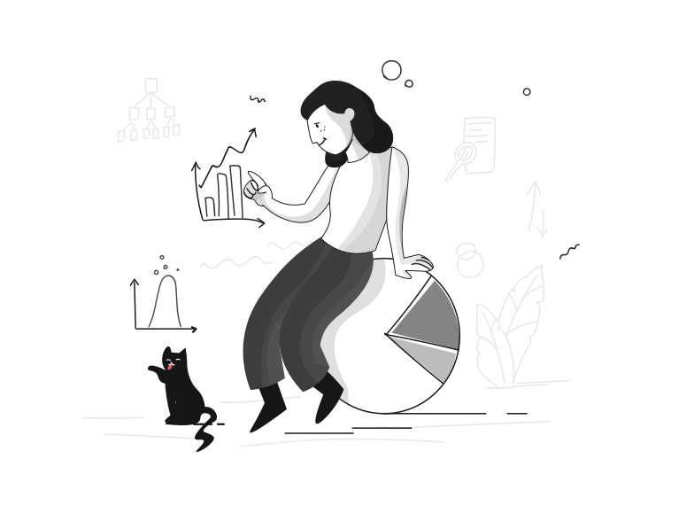 Data analyse Clipart illustration in PNG, SVG