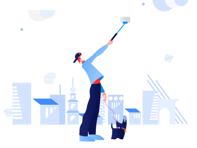 style Selfie in deserted city images in PNG and SVG | Icons8 Illustrations