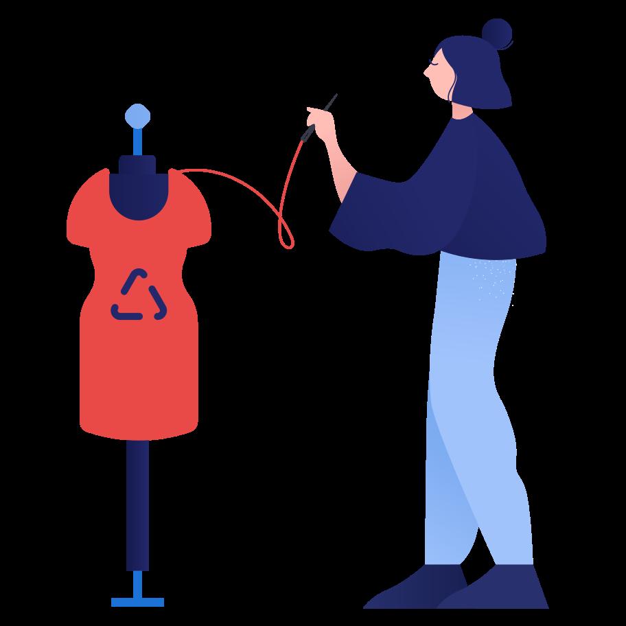 Style  Recyclage des vêtements Images vectorielles en PNG et SVG | Icons8 Illustrations