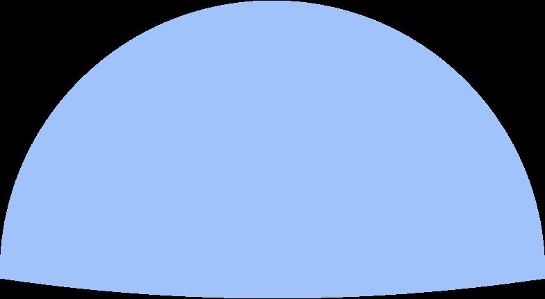 semicircle blue Clipart-Grafik als PNG, SVG