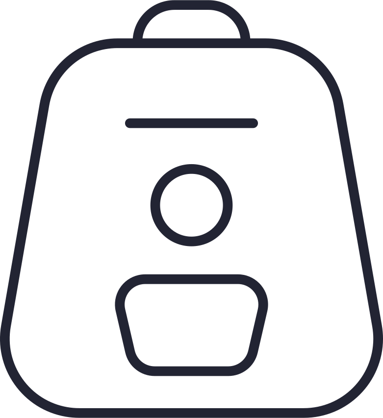 Ilustración de clipart de backpack white en PNG, SVG
