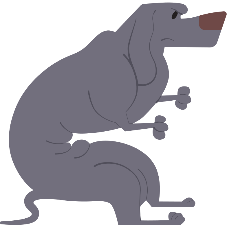 dachshund gray Clipart illustration in PNG, SVG