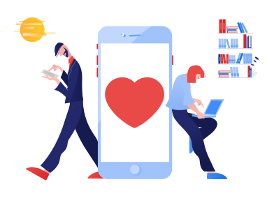 style Couple chatting images in PNG and SVG | Icons8 Illustrations