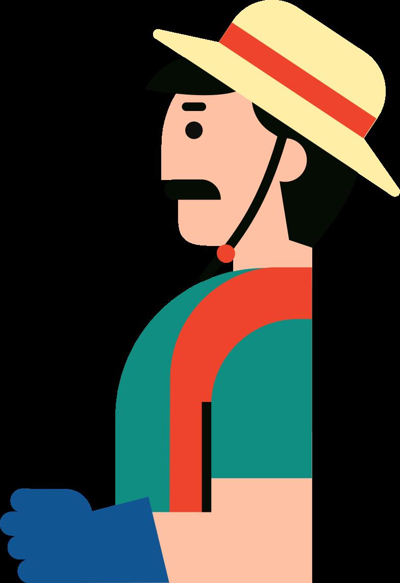 Иллюстрация фермер в стиле  в PNG и SVG | Icons8 Иллюстрации