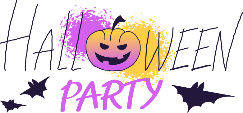 halloween party with pumpkin Clipart illustration in PNG, SVG