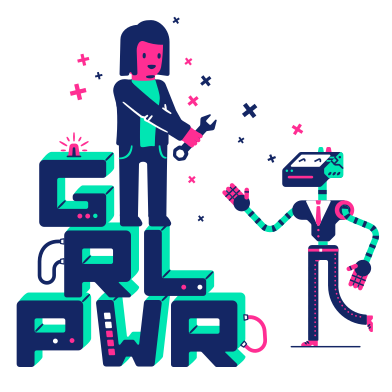 style GRL PWR images in PNG and SVG | Icons8 Illustrations
