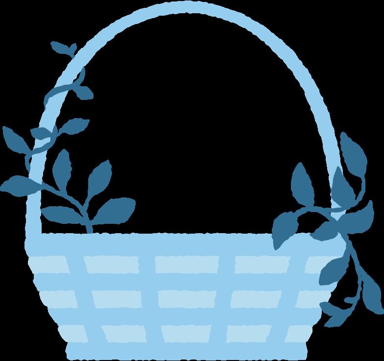 decorated basket Clipart illustration in PNG, SVG