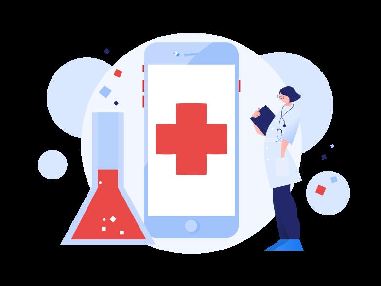Online medicine Clipart illustration in PNG, SVG