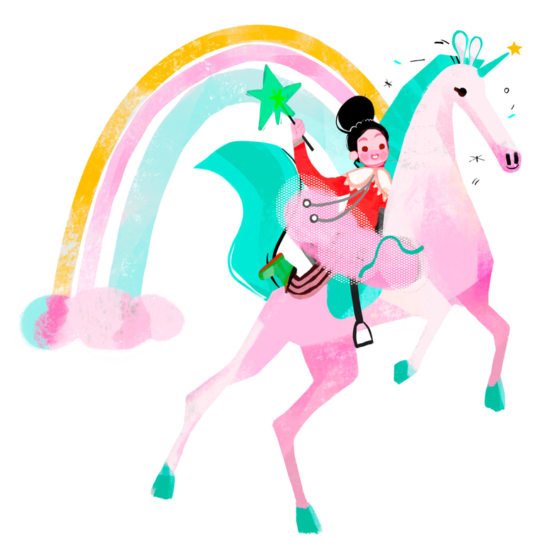 style Mademoisslle unicorn Vector images in PNG and SVG | Icons8 Illustrations