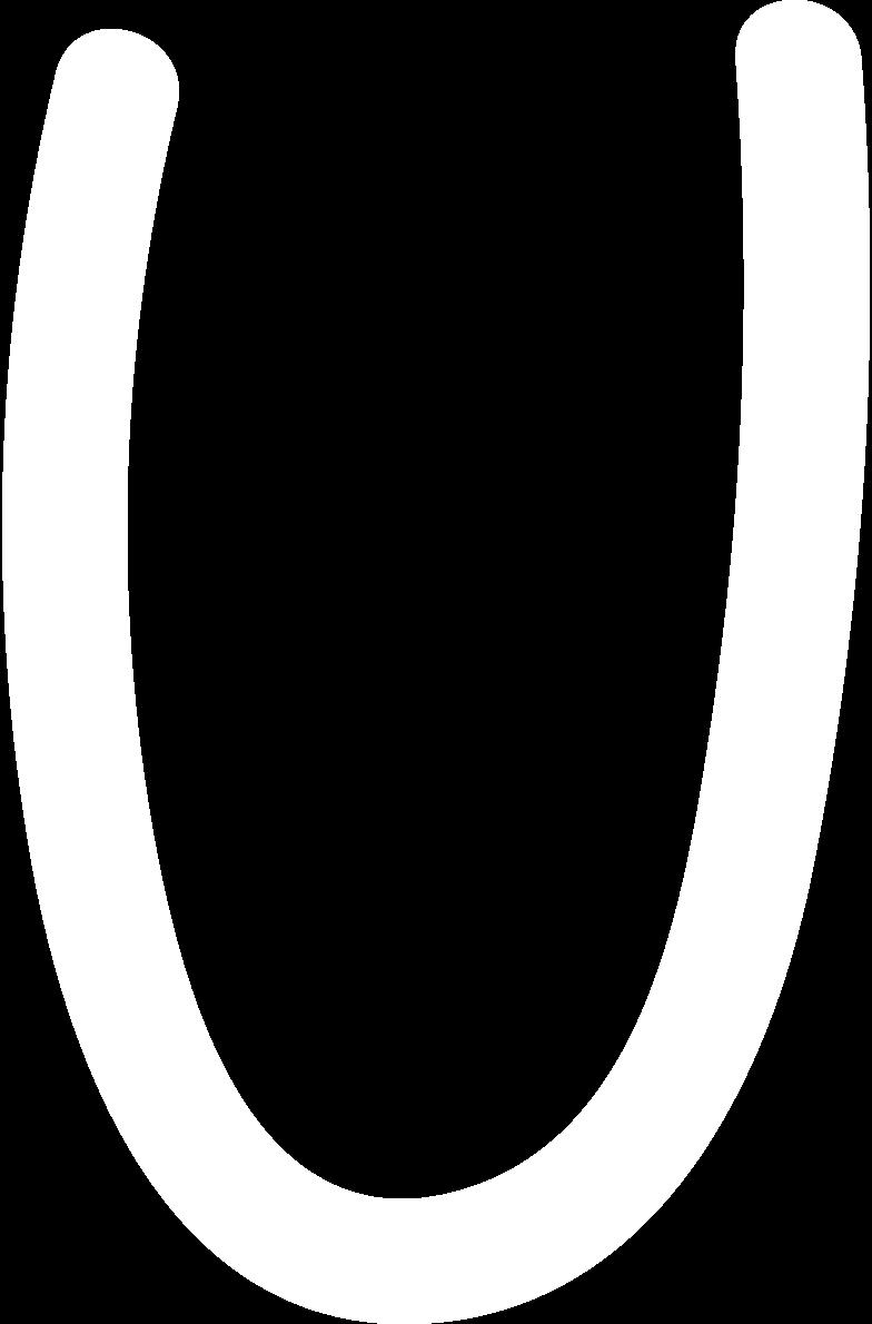 u white Clipart illustration in PNG, SVG