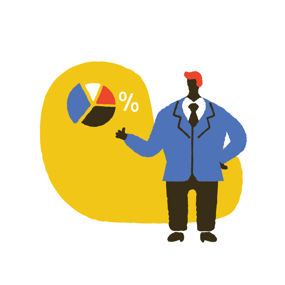Pie chart overview  Clipart illustration in PNG, SVG