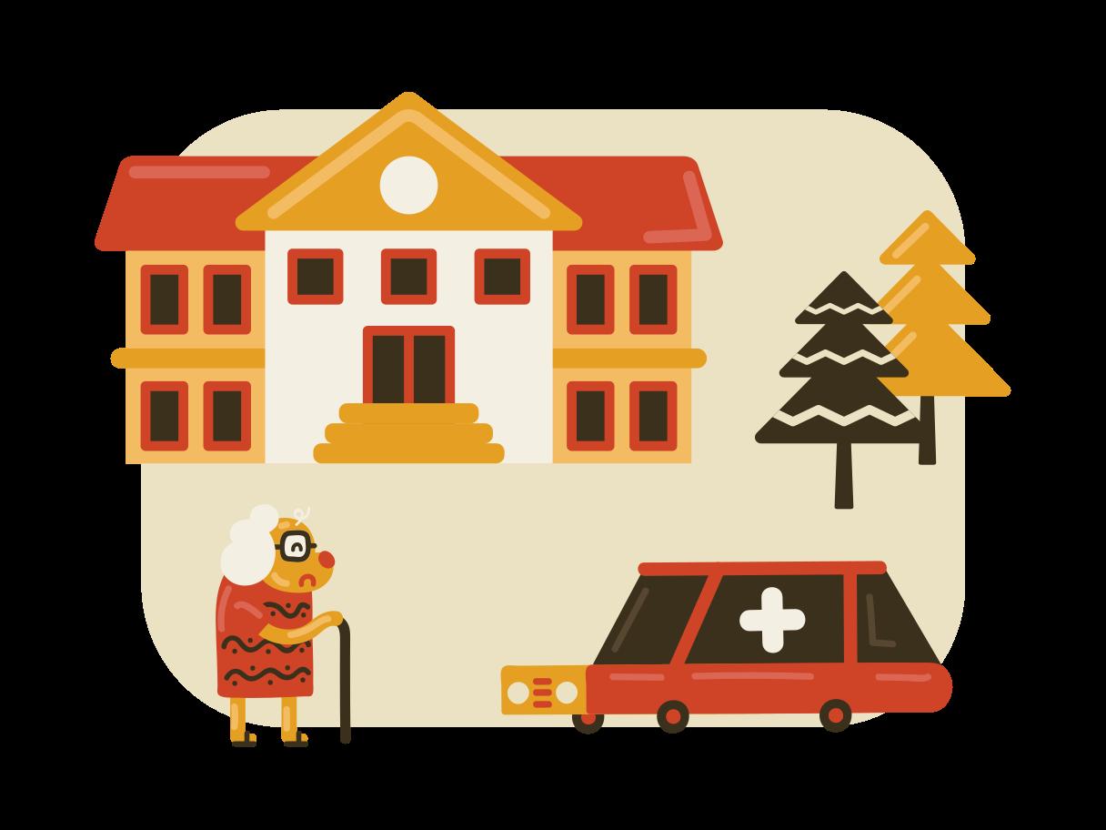 Hospital Clipart illustration in PNG, SVG