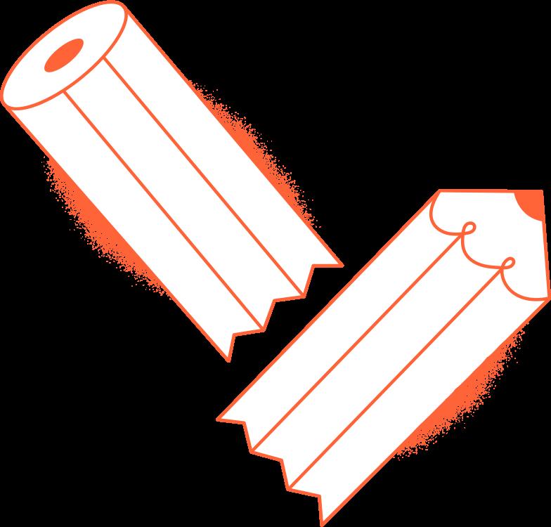 broken pencil Clipart illustration in PNG, SVG