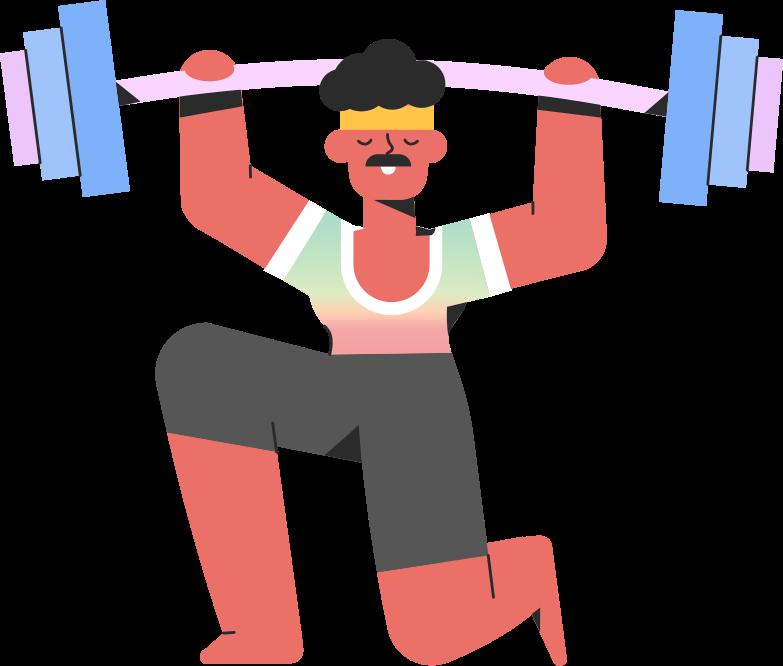 sportsman barbell Clipart illustration in PNG, SVG