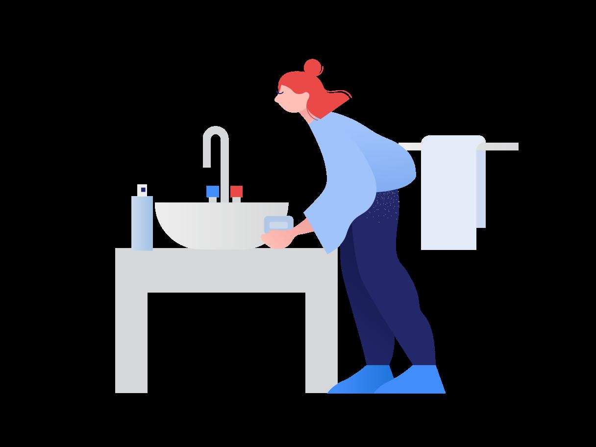 Wash your hands Clipart illustration in PNG, SVG