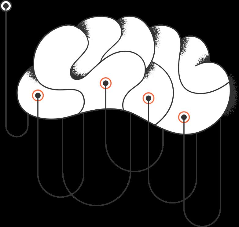 programming  brain with electrodes Clipart-Grafik als PNG, SVG