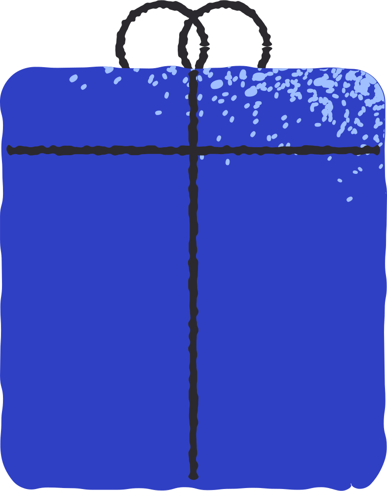 blue gift Clipart illustration in PNG, SVG