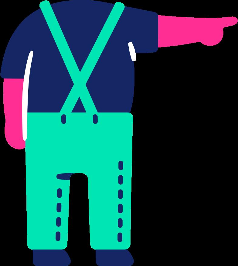Imágenes vectoriales cuerpo niño apuntando hacia atrás en PNG y SVG estilo  | Ilustraciones Icons8