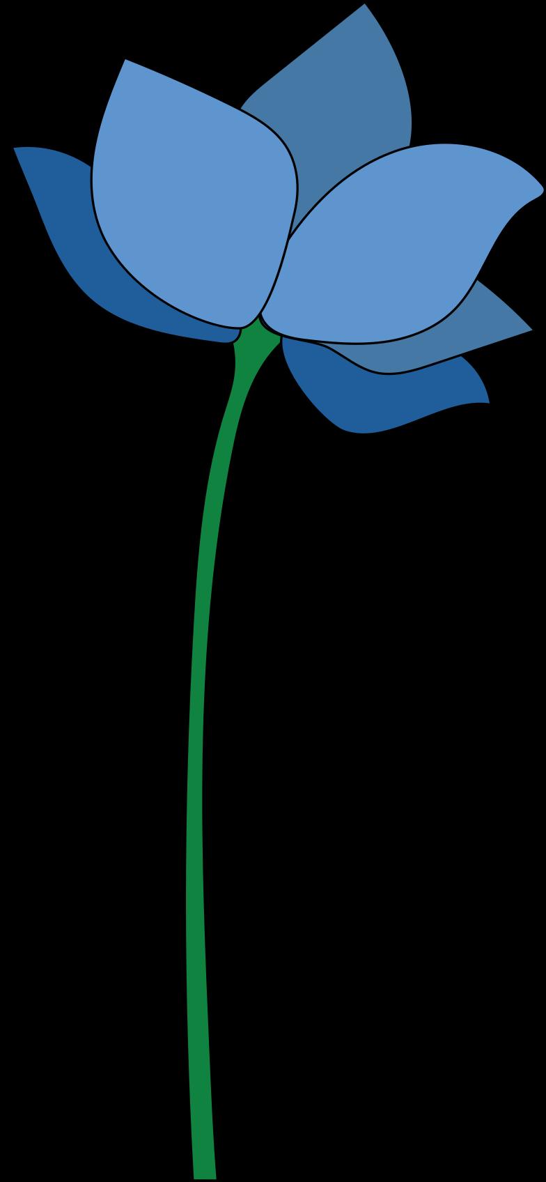 blue flower Clipart illustration in PNG, SVG
