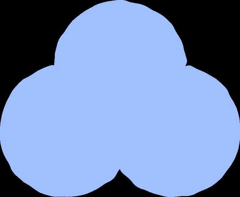 trefoil light blue Clipart illustration in PNG, SVG