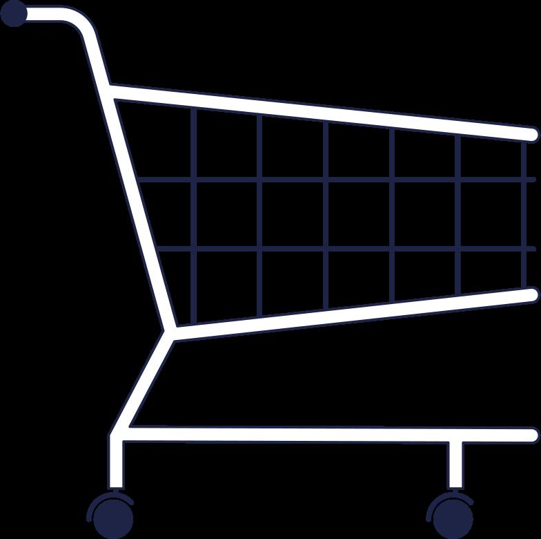 supermarket trolley Clipart illustration in PNG, SVG