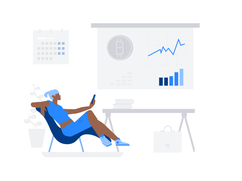 Bitcoin Exchange Rate Clipart illustration in PNG, SVG