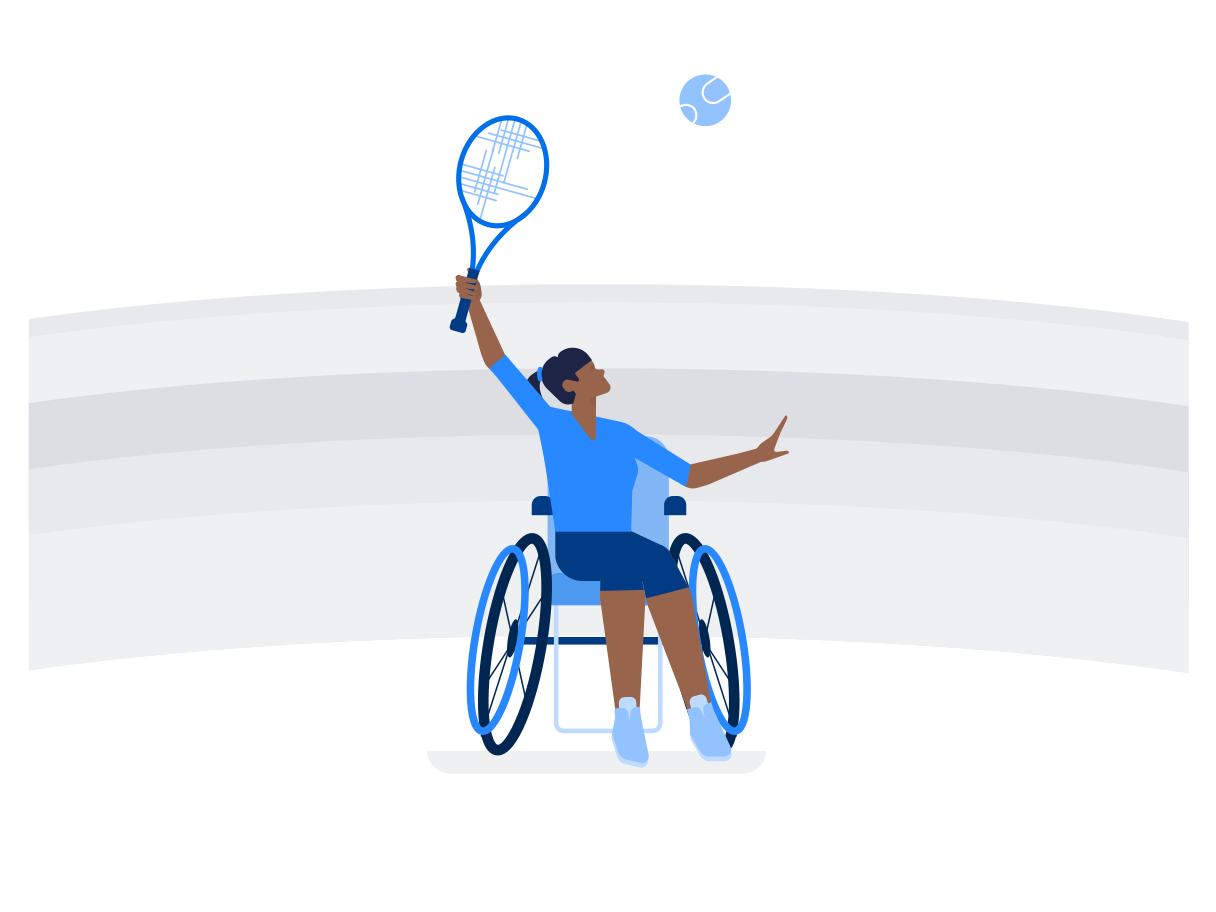 Paralympic games Clipart illustration in PNG, SVG