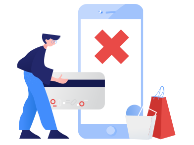 style Payment failed images in PNG and SVG | Icons8 Illustrations
