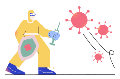 style Fighting a virus images in PNG and SVG | Icons8 Illustrations
