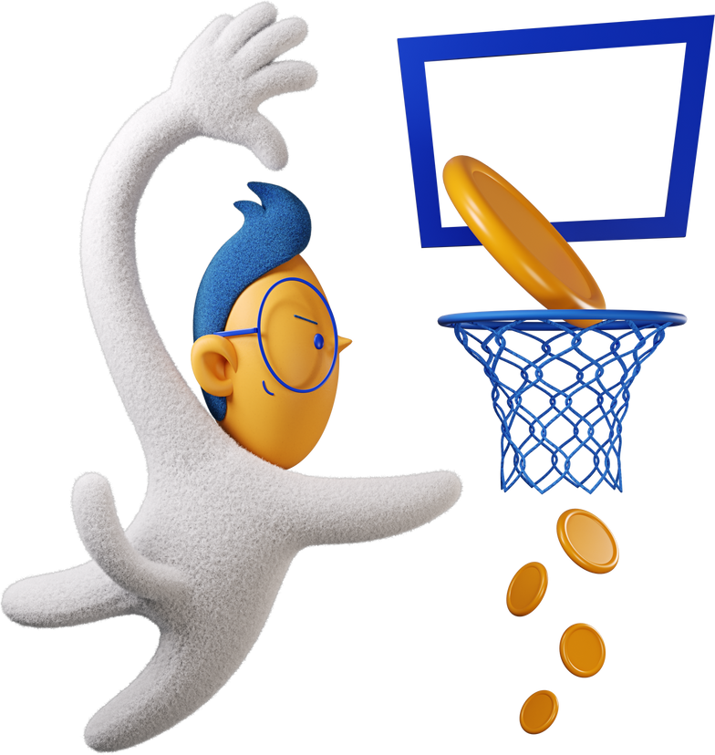 boy bascetball money Clipart illustration in PNG, SVG