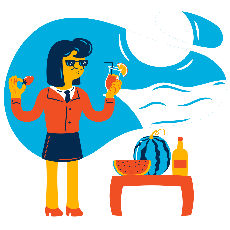 Beach holidays Clipart illustration in PNG, SVG