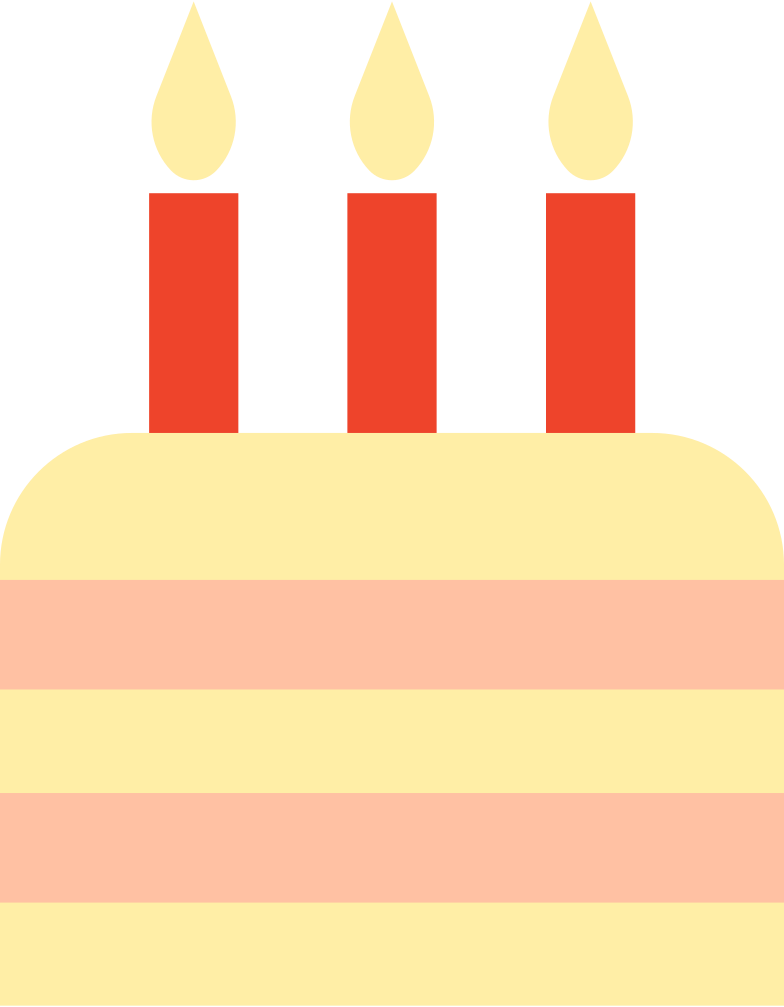 birthday cake Clipart illustration in PNG, SVG