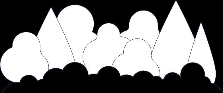 forest background line Clipart illustration in PNG, SVG