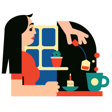 style Tea drinking images in PNG and SVG | Icons8 Illustrations