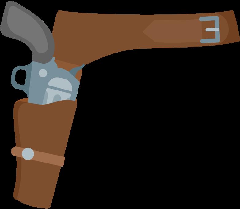 revolver holster Clipart illustration in PNG, SVG