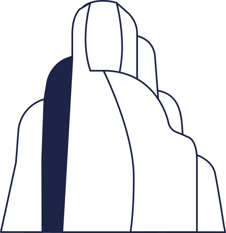 rock 2 line Clipart illustration in PNG, SVG