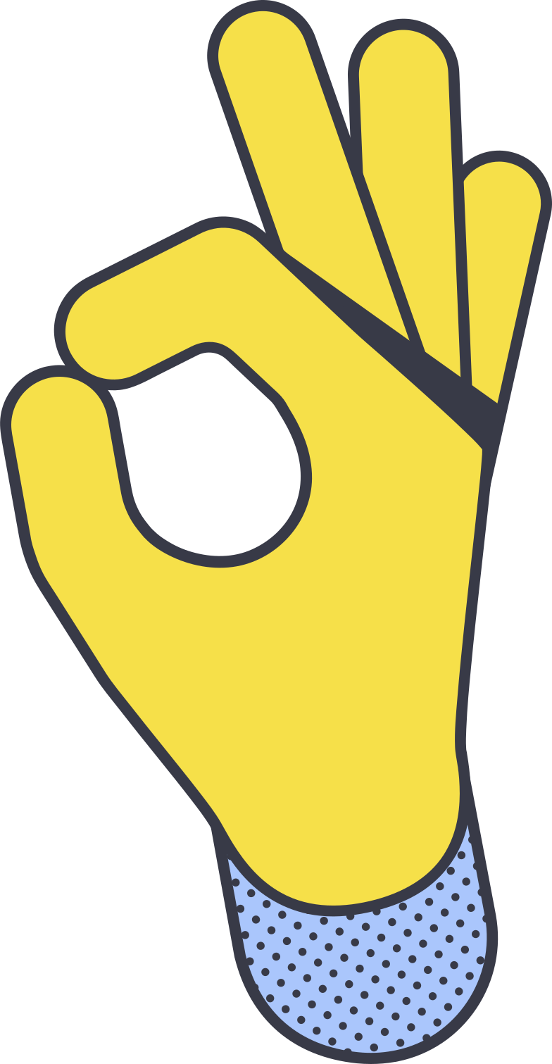 okay hand Clipart illustration in PNG, SVG