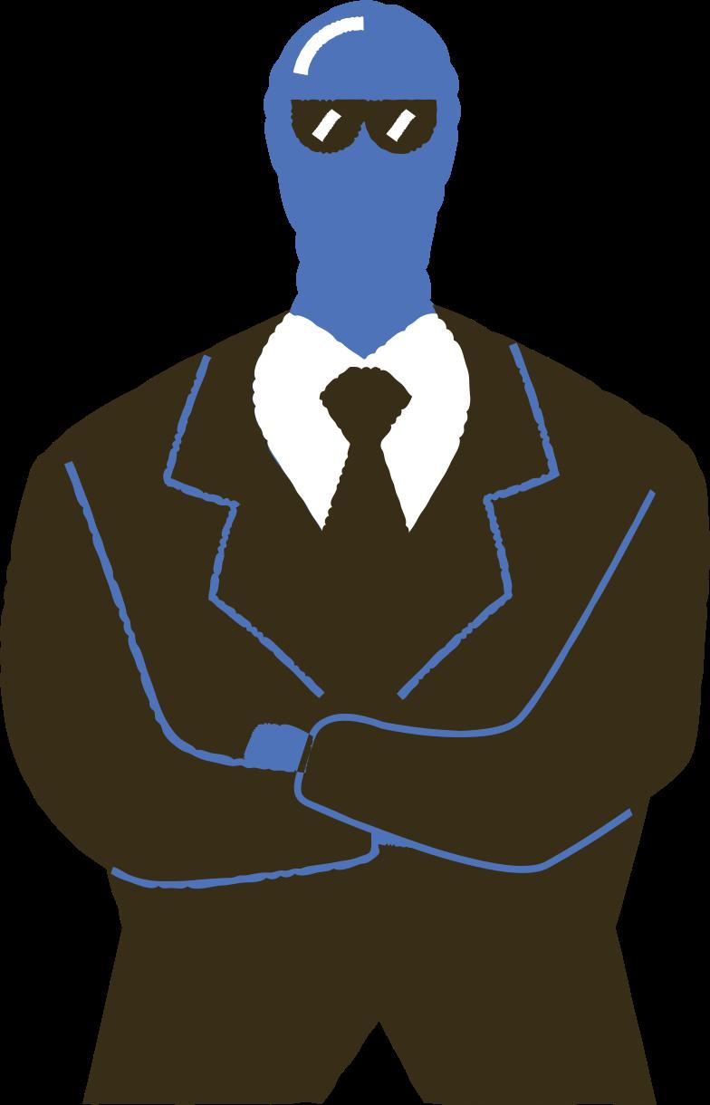 man in a suit Clipart-Grafik als PNG, SVG