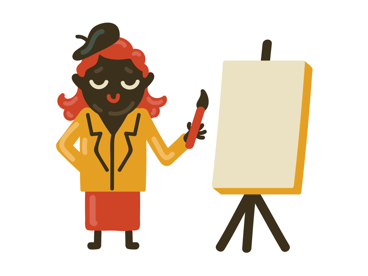 An artist Clipart illustration in PNG, SVG