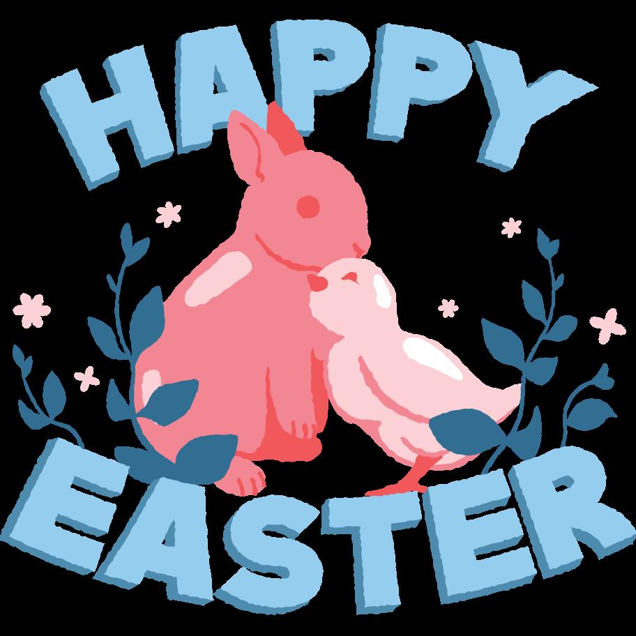 Happy Easter Clipart illustration in PNG, SVG