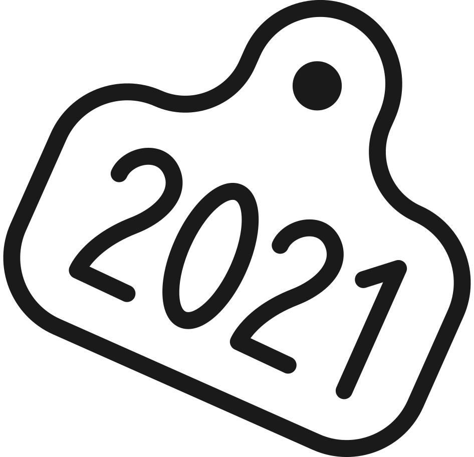 bull 2021  tag Clipart illustration in PNG, SVG