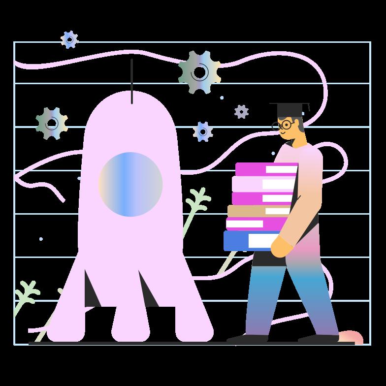 Build a rocket Clipart illustration in PNG, SVG