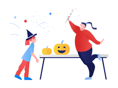 style Halloween party at home images in PNG and SVG | Icons8 Illustrations