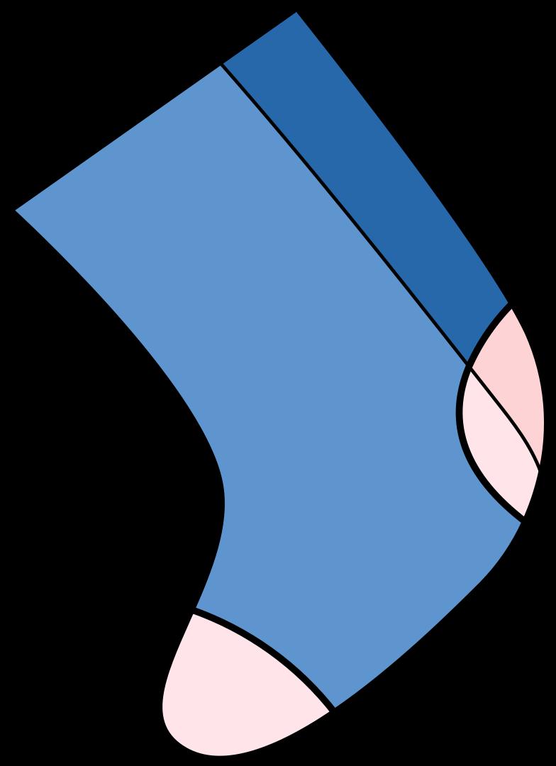 Ilustración de clipart de xmas sock en PNG, SVG