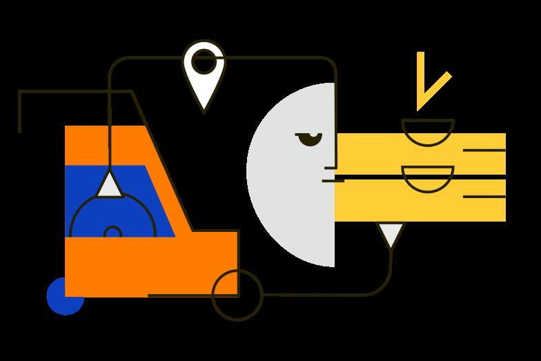 Imágenes vectoriales Repartidor de pizza en PNG y SVG estilo  | Ilustraciones Icons8