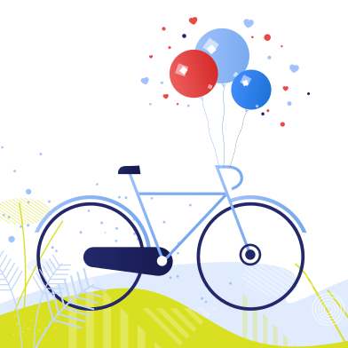 style New bicycle images in PNG and SVG | Icons8 Illustrations