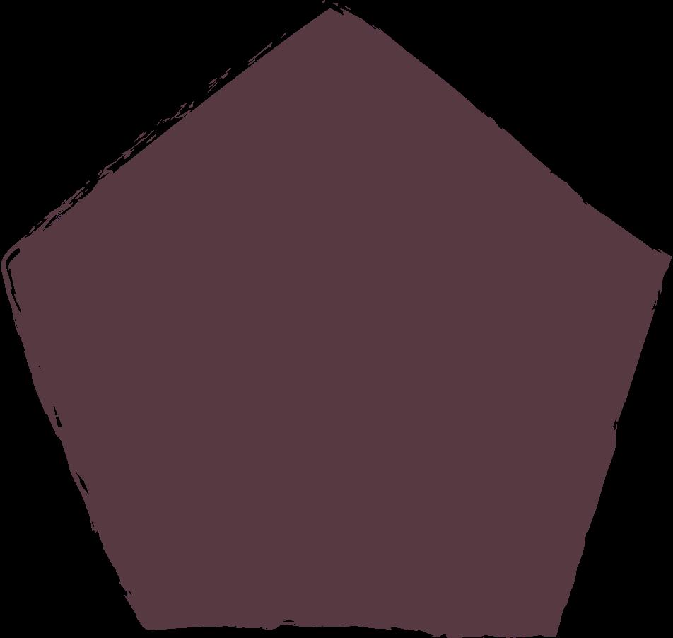 pentagon-dark-brown Clipart illustration in PNG, SVG