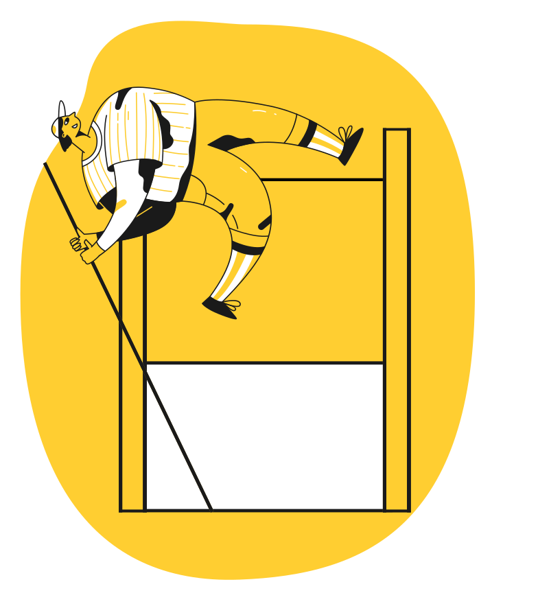 High jump Clipart illustration in PNG, SVG